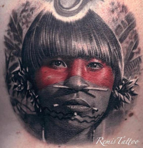 Portrait Realistic Tattoo by Remis Tatooo