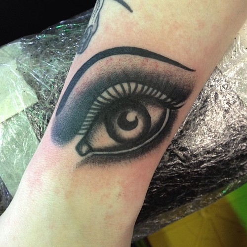 Arm Eye Tattoo by Sarah Carter