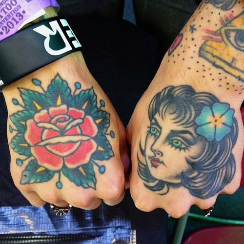Old School Hand Tattoo by Sarah Carter