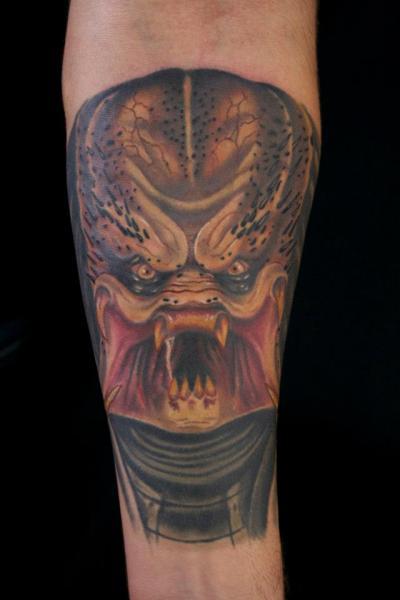 Arm Fantasy Alien Tattoo by Bearcat Tattoo
