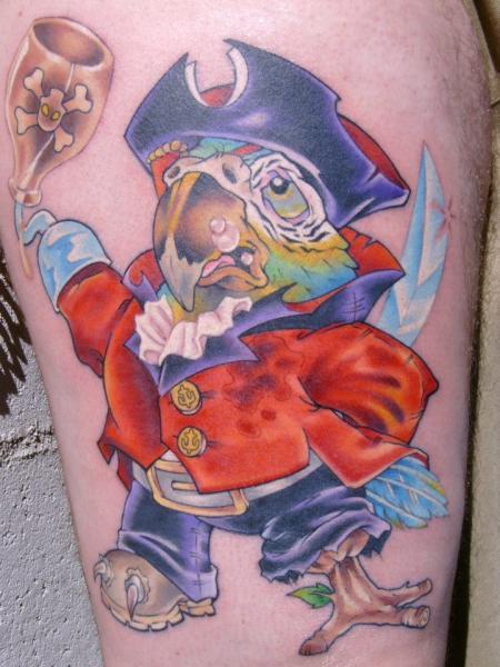 Tatuaje Brazo Fantasy Personaje Pirata por Bearcat Tattoo