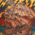 Back Galleon tattoo by Bearcat Tattoo