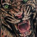 Arm Realistic Tiger tattoo by Rich Pineda Tattoo