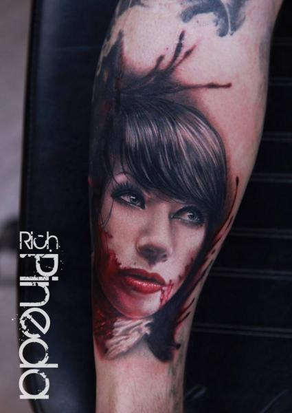 Arm Realistic Blood Tattoo by Rich Pineda Tattoo