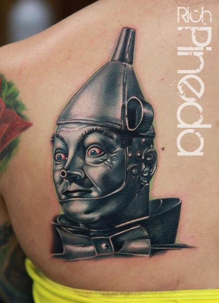 Fantasy Back Robot Tattoo by Rich Pineda Tattoo