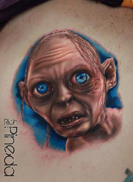 Fantasy Gollum Tattoo by Rich Pineda Tattoo