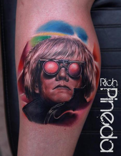 Tatuaggio Ritratti Realistici Andy Warhol di Rich Pineda Tattoo