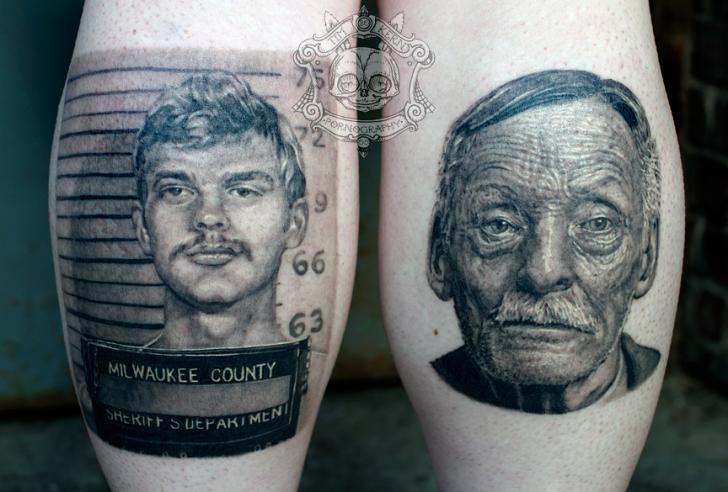Tatuaje Retrato Realista Ternero por Tim Kerr