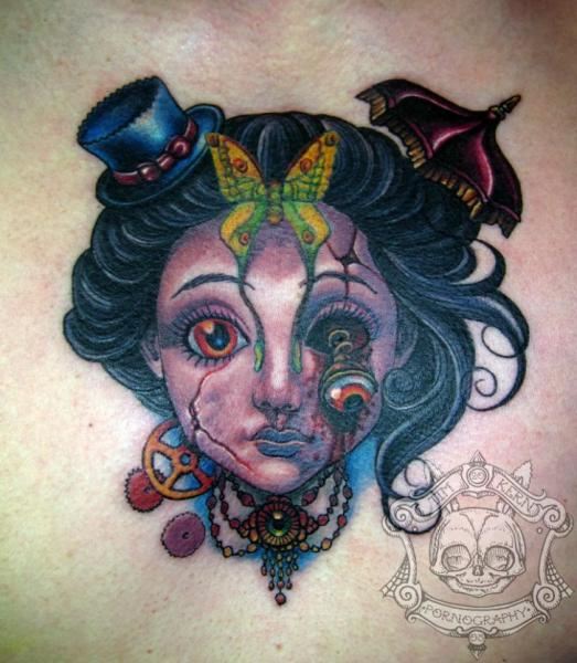 Fantasy Character Tattoo by Tim Kerr