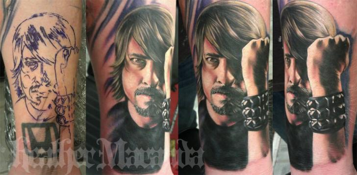 Arm Portrait Realistic Tattoo by Heather Maranda