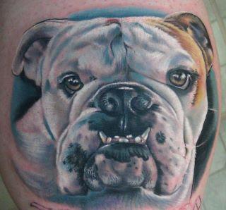 Realistische Hund Tattoo von Heather Maranda