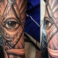 Arm Eye God tattoo by Border Line Tattoos