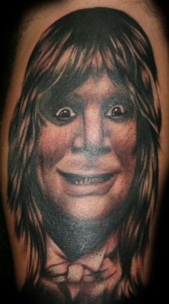 Portrait Realistic Ozzy Tattoo by Border Line Tattoos