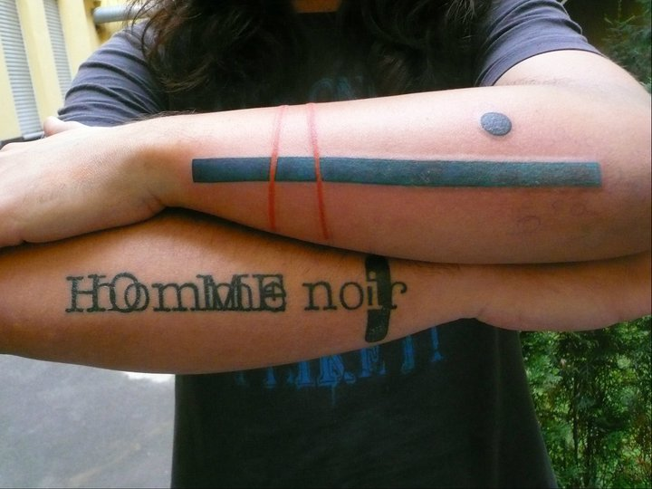 Arm Lettering Abstract Tattoo by Madame Chän
