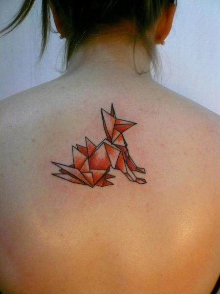 Dog Back Abstract Tattoo by Madame Chän