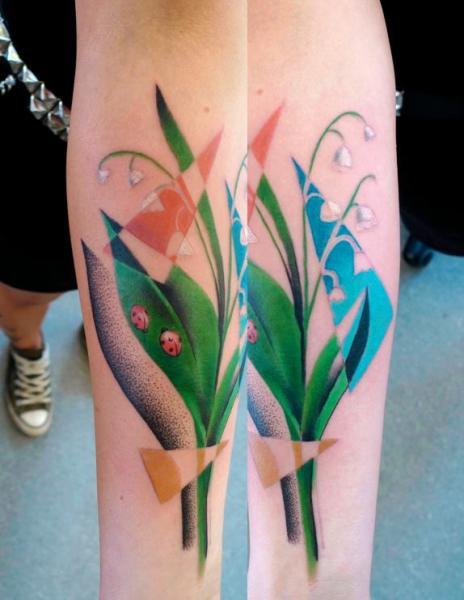 Tatouage Fleur Resume Par Mariusz Trubisz