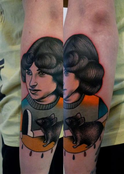 Arm Mouse Men Abstract Tattoo by Mariusz Trubisz