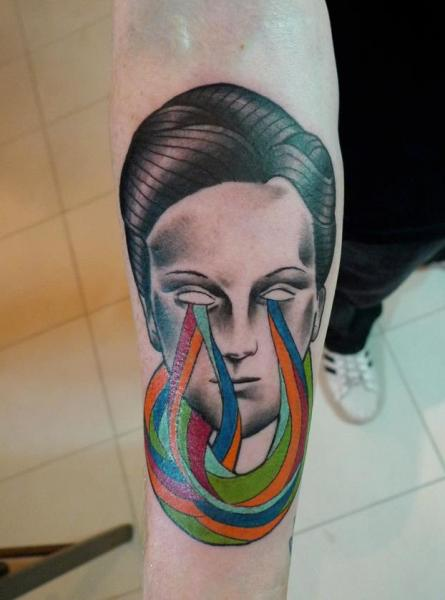 Arm Men Abstract Tattoo by Mariusz Trubisz
