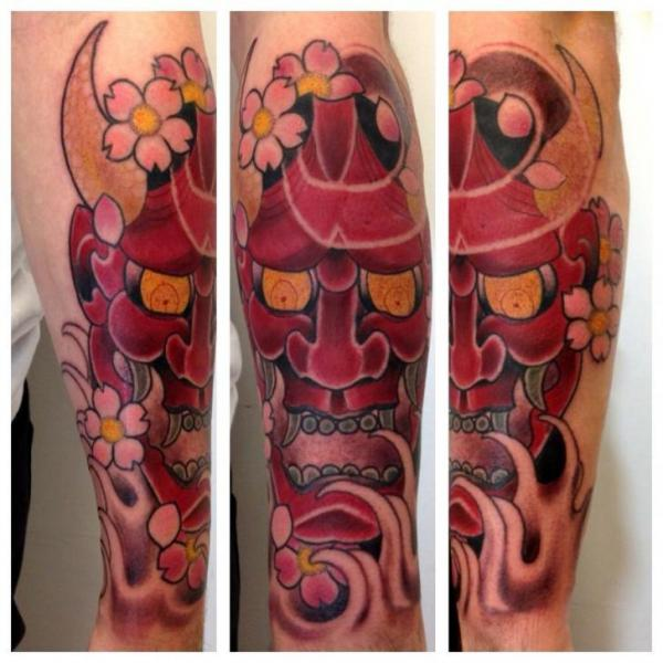 Arm Japanische Drachen Tattoo von Matt Adamson