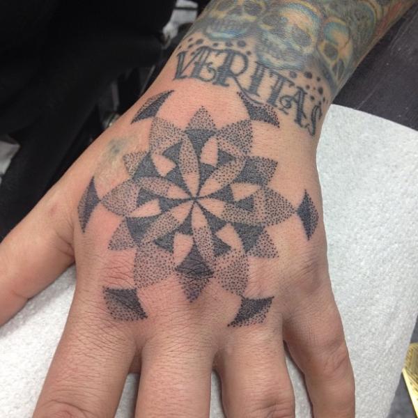 Hand Dotwork Tattoo by Alans Tattoo Studio