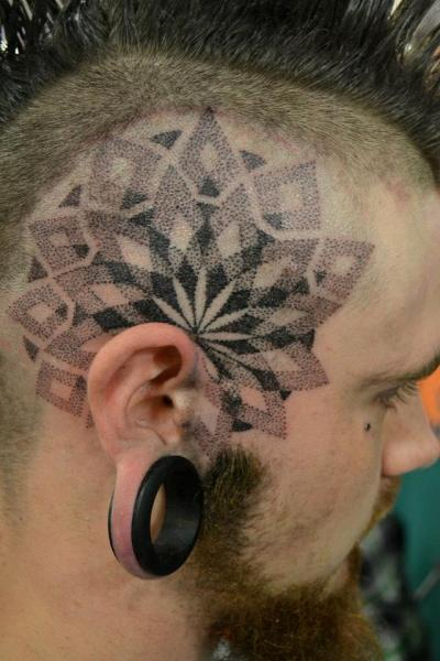 Head Dotwork Tattoo by Alans Tattoo Studio