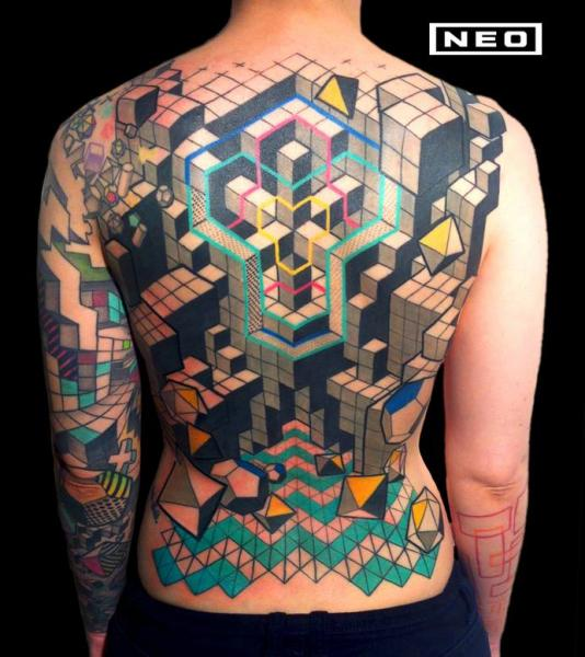 Back Tattoo by DeLaine Neo Gilma