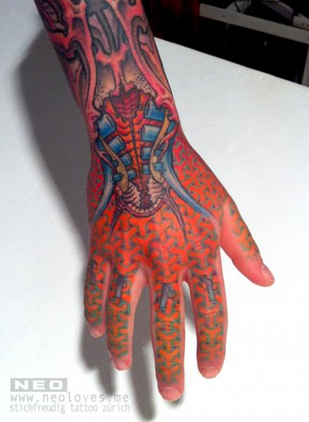 Hand Abstract Tattoo by DeLaine Neo Gilma