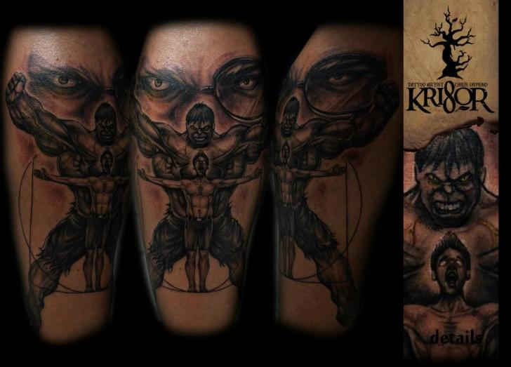 Arm Fantasy Hulk Tattoo by Kri8or