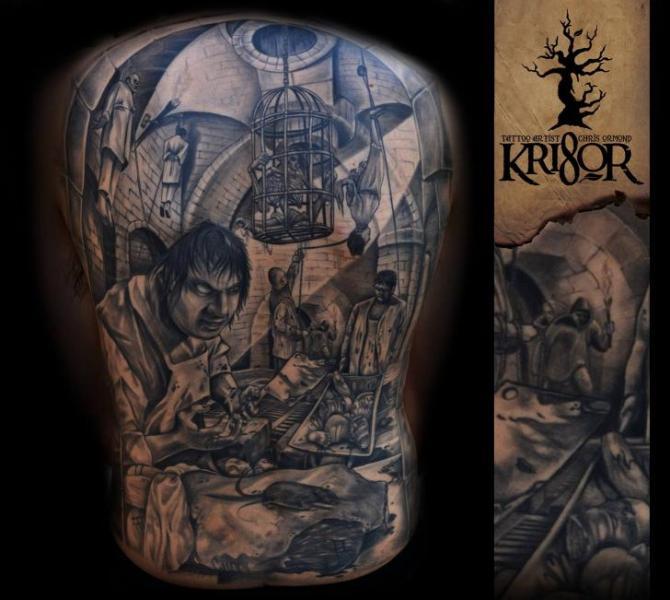 Fantasy Back Tattoo by Kri8or