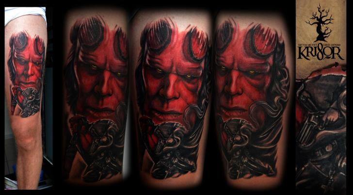 Shoulder Fantasy Monster Tattoo by Kri8or