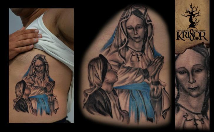 Tatuaggio Fianco Religiosi di Kri8or