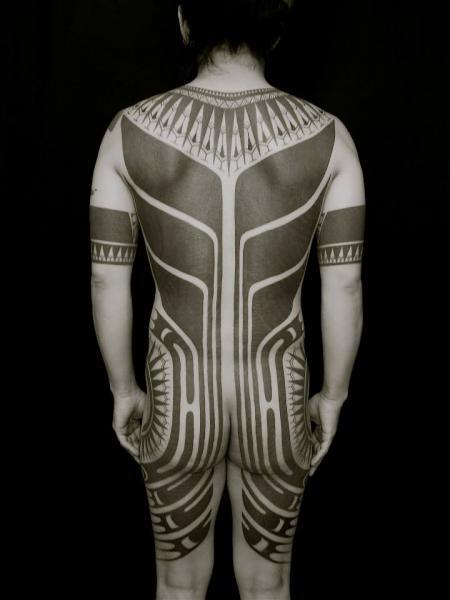 Side Back Tribal Butt Tattoo by Apocaript