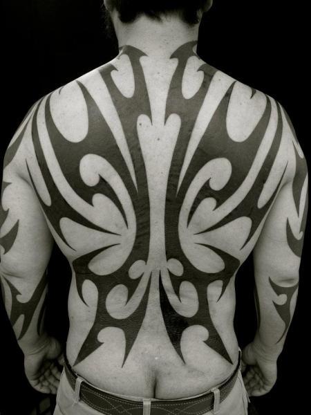 Rücken Tribal Abstrakt Tattoo von Apocaript
