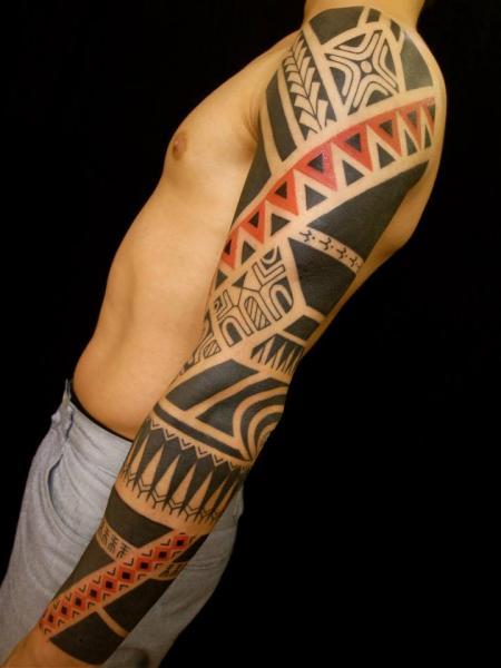 Tribal Sleeve Tattoo by Apocaript