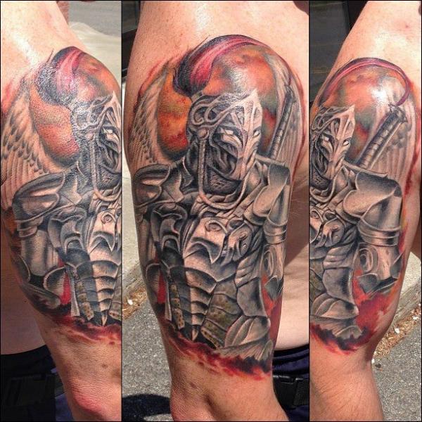 Arm Fantasy Warrior Tattoo by Artrock