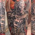 tatuaje Brazo Fantasy Guerrero por Artrock