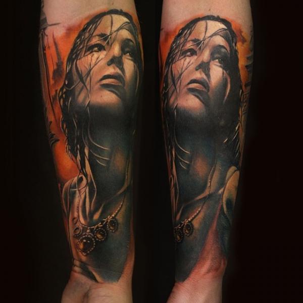 Arm Portrait Realistic Tattoo by Artrock