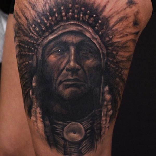 Realistic Indian Tattoo by Artrock