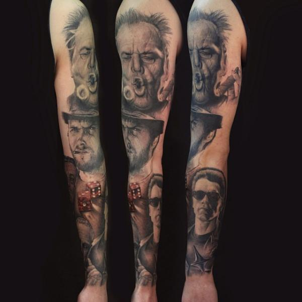 Portrait Realistic Sleeve Tattoo by Artrock