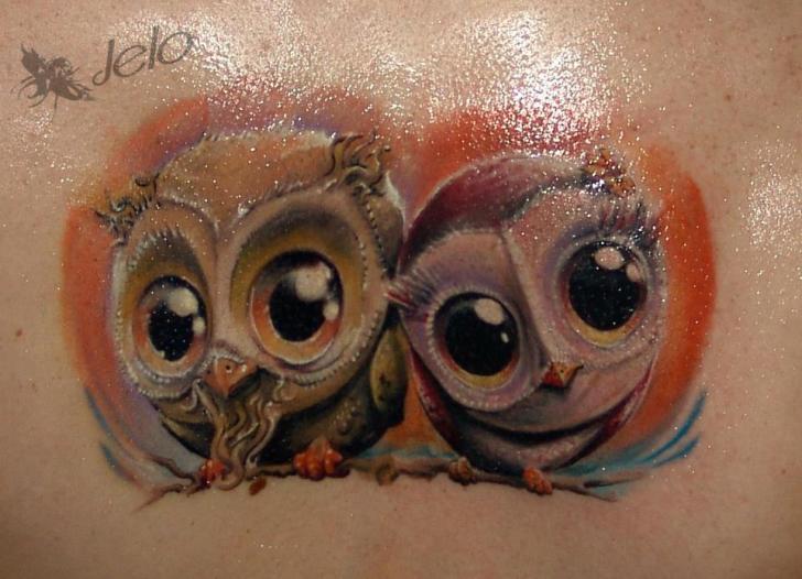 Tatuaggio Fantasy Gufo di Dark Art Tattoo