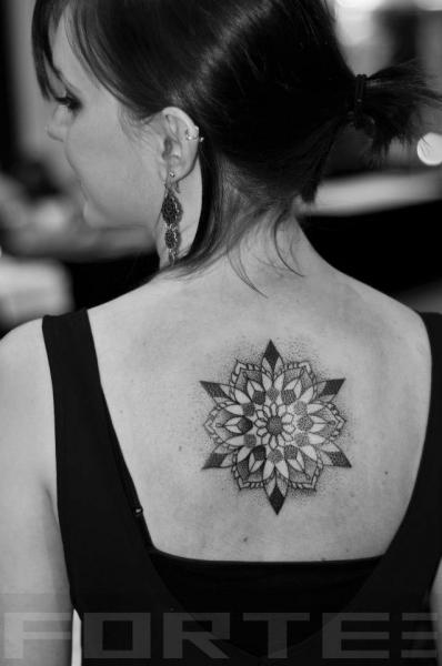 Back Dotwork Tattoo by Dillon Forte