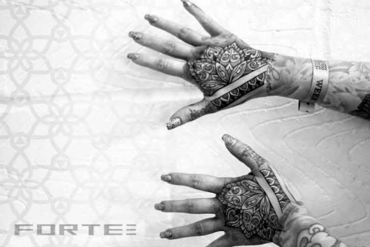 Hand Dotwork Tattoo by Dillon Forte