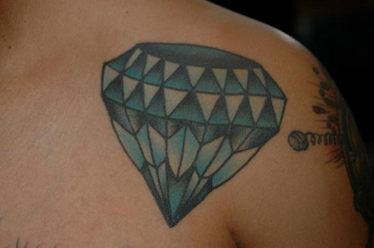 Shoulder Diamond Tattoo by Chad Koeplinger