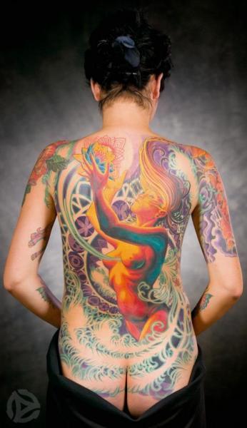 Fantasy Back Tattoo by Analog Tattoo
