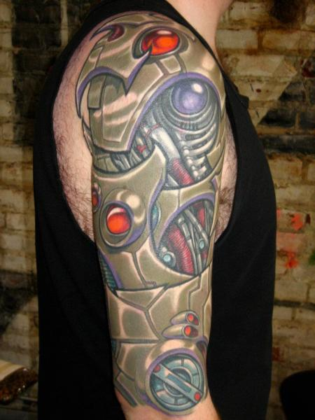 Shoulder Biomechanical Tattoo by Analog Tattoo