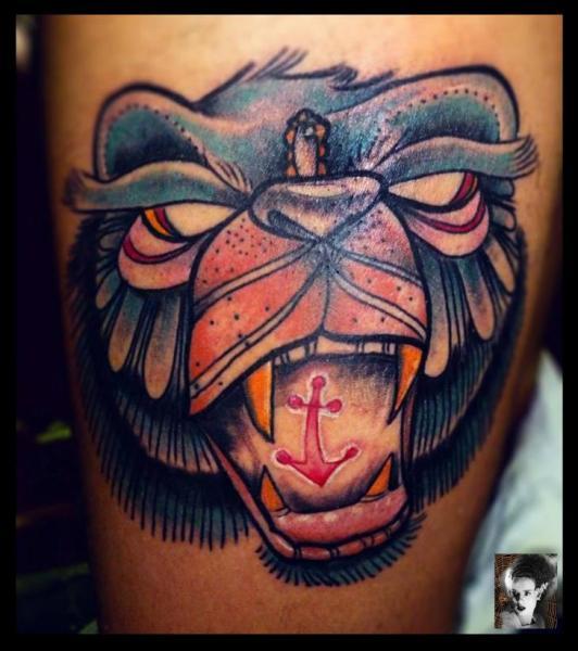 Arm Fantasy Monkey Tattoo by Morbida Tattoo