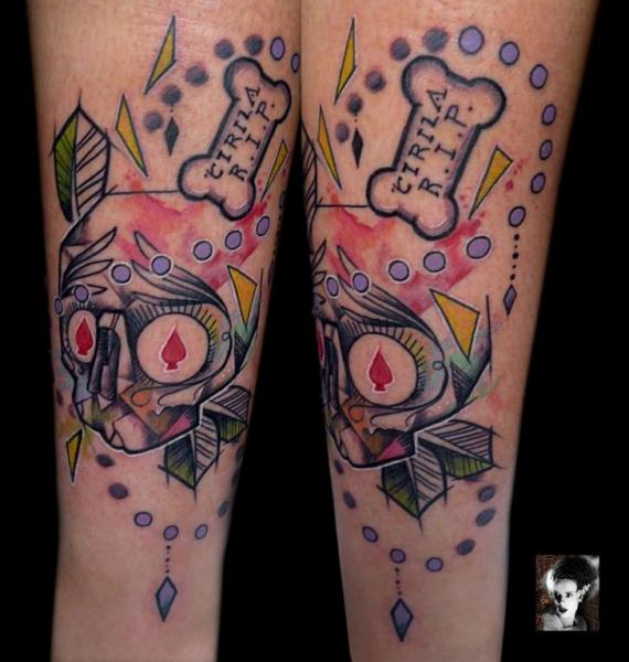 Arm Fantasie Totenkopf Tattoo von Morbida Tattoo