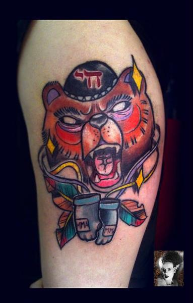 Shoulder Fantasy Wolf Tattoo by Morbida Tattoo