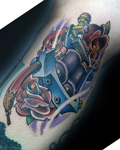 Arm Fantasie Tattoo Maschine Tattoo von Levy Hilton