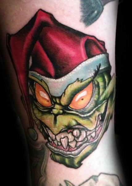 Arm Fantasy Troll Hat Tattoo by Levy Hilton